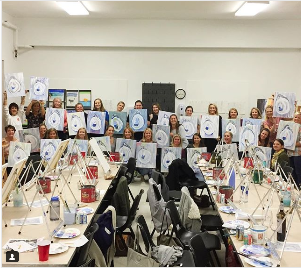 Sip And Paint In March 2018 Kim Hovell Art